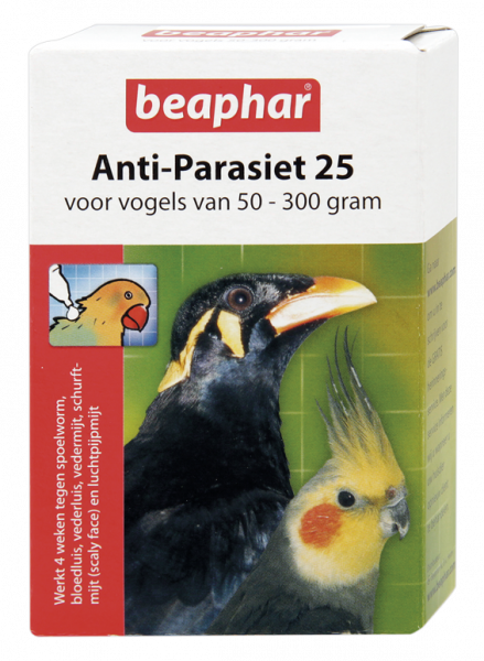 Beaphar Anti-Parasiet 25 vogels van 50-300 gr
