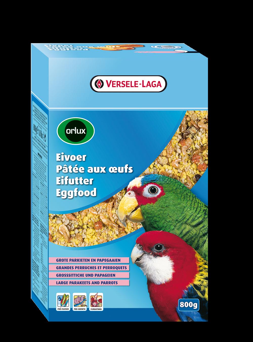 Versele-Laga Orlux Eivoer Droog Grote Parkieten & Papegaaien 800 g