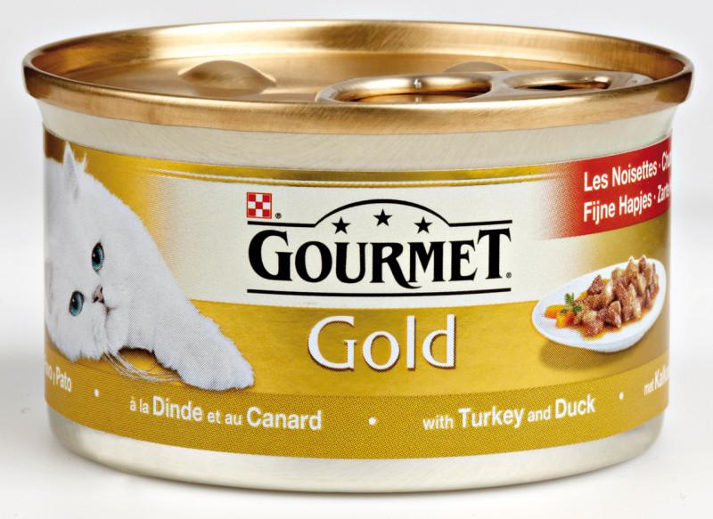 Gourmet Gold Fijne Hapjes Kalkoen en Eend 85 gram