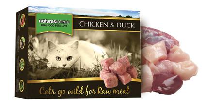 Natures Menu kattenvoer Frozen Chicken + Duck 400 gr
