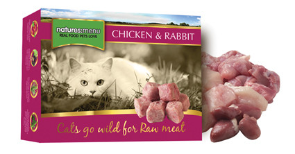 Natures Menu kattenvoer Frozen Chicken + Rabbit 400 gr
