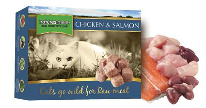 Natures Menu kattenvoer Frozen Chicken + Salmon 400 gr