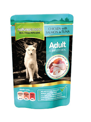 Natures Menu kattenvoer Chicken, Salmon & Tuna 100 gr