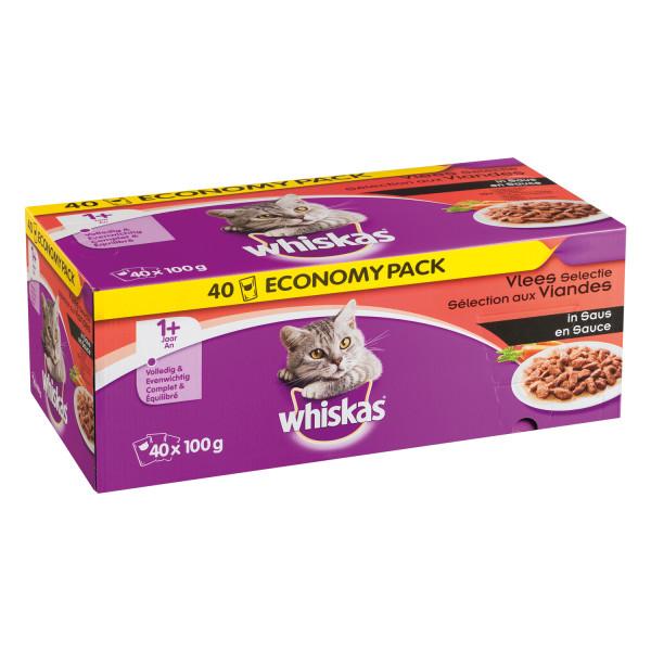 Whiskas maaltijdzakjes vlees 40 stuks