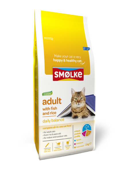 Smølke kattenvoer Adult with Fish and Rice 2 kg