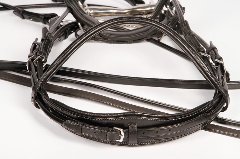 Harry's Horse hoofdstel stang & trens Grand Prix zwart