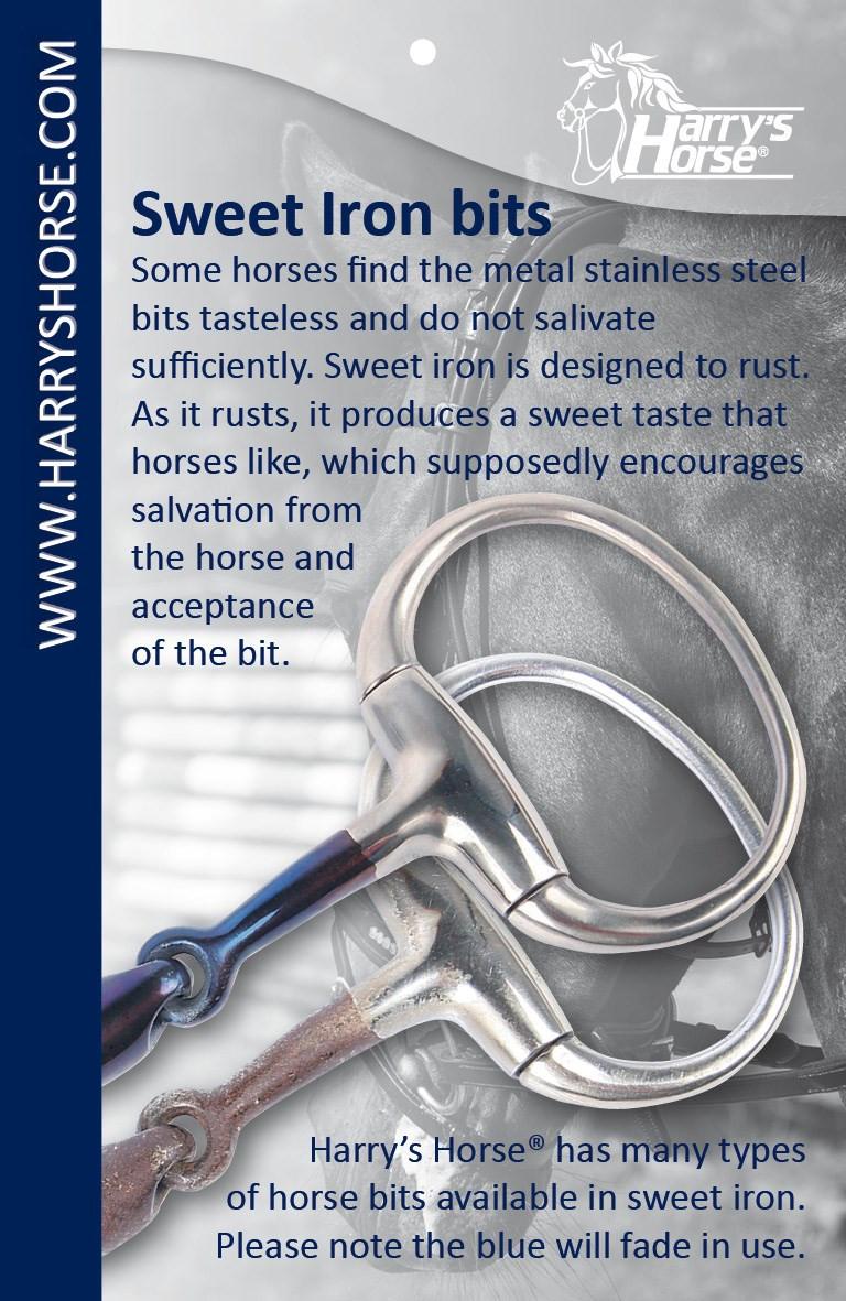 Harry's Horse dubbelgebroken watertrens Sweet Iron 20 mm
