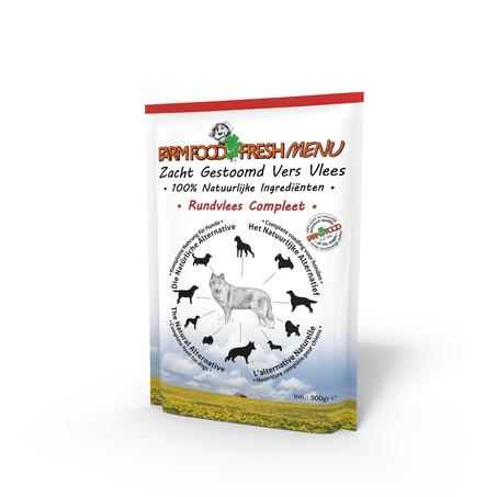 Farm Food Fresh Menu Rundvlees Compleet - 300 gr
