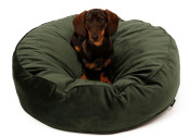 51DN - FW18 - Velvet - Round Boxpillow - ?ÿ80x20cm - Hunter Green - 51SVEBP04 - (5420065831046) - Dog.jpg