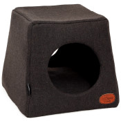 51DN - Herringbone - Cathouse - 45x45x42cm - DarkGrey - 51SHBCH21 - (5420065814254) - Angle.jpg