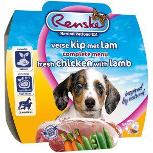 Renske hondenvoer Vers Vlees maaltijd Puppy kip & lam 100 gr