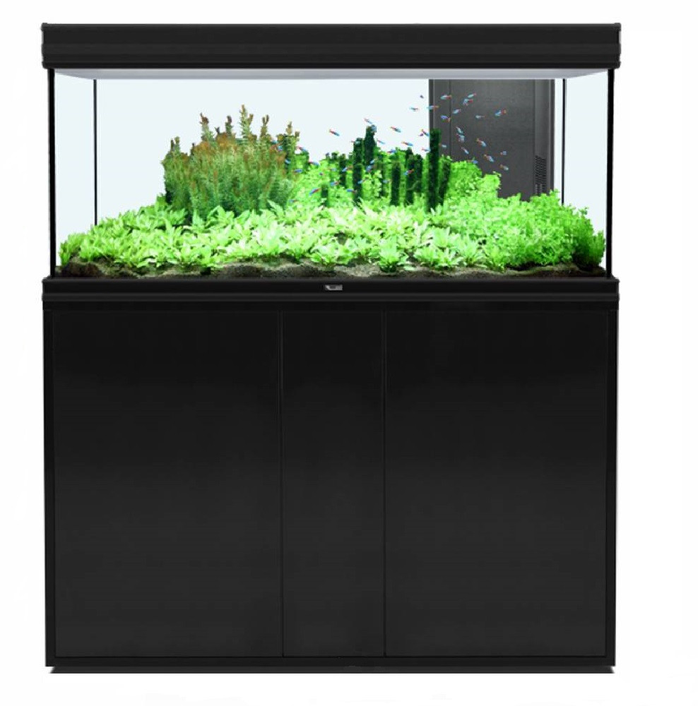 Aquatlantis aquarium Fusion 120 x 40 LED Combinatie zwart
