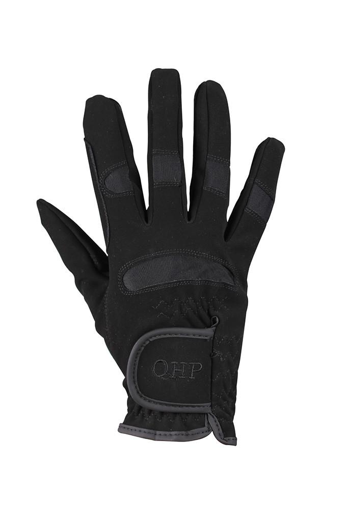 QHP rijhandschoen Multi zwart