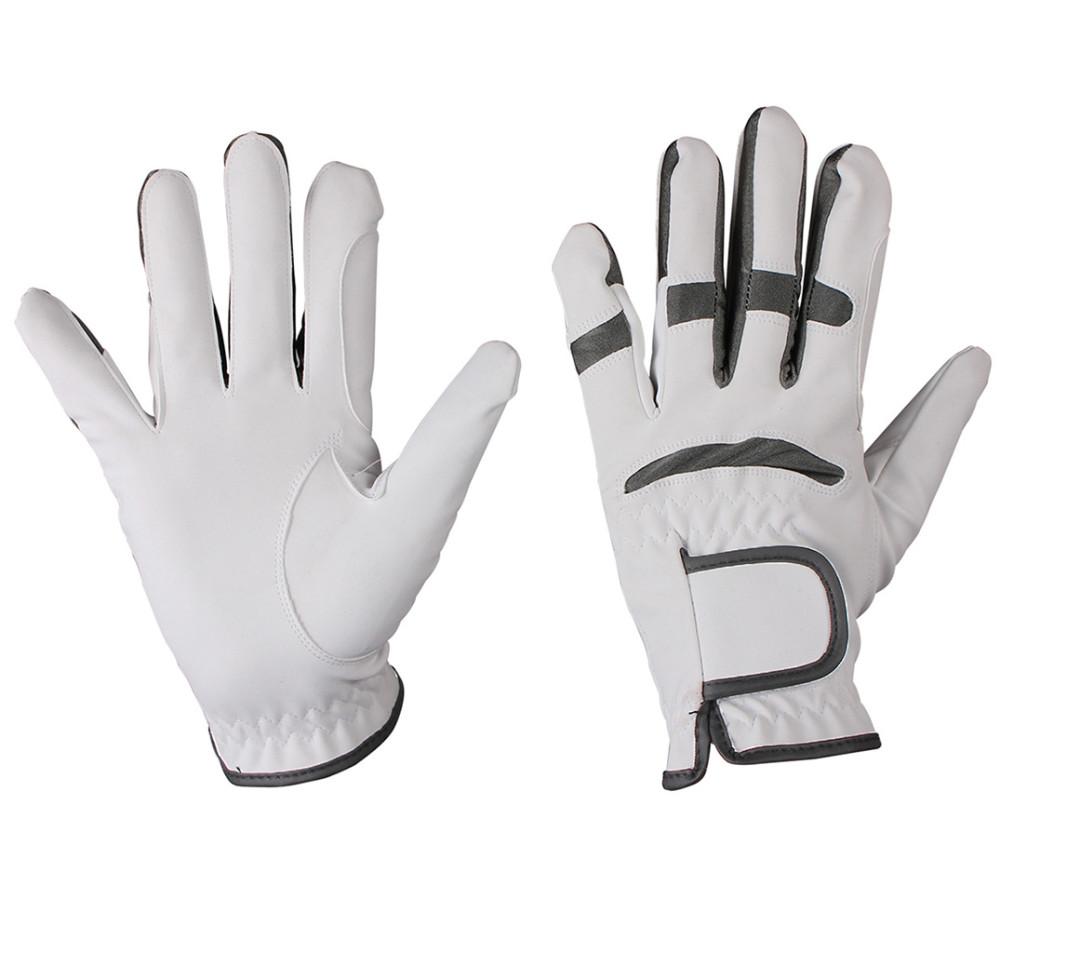 QHP handschoen Multi Color wit/grijs