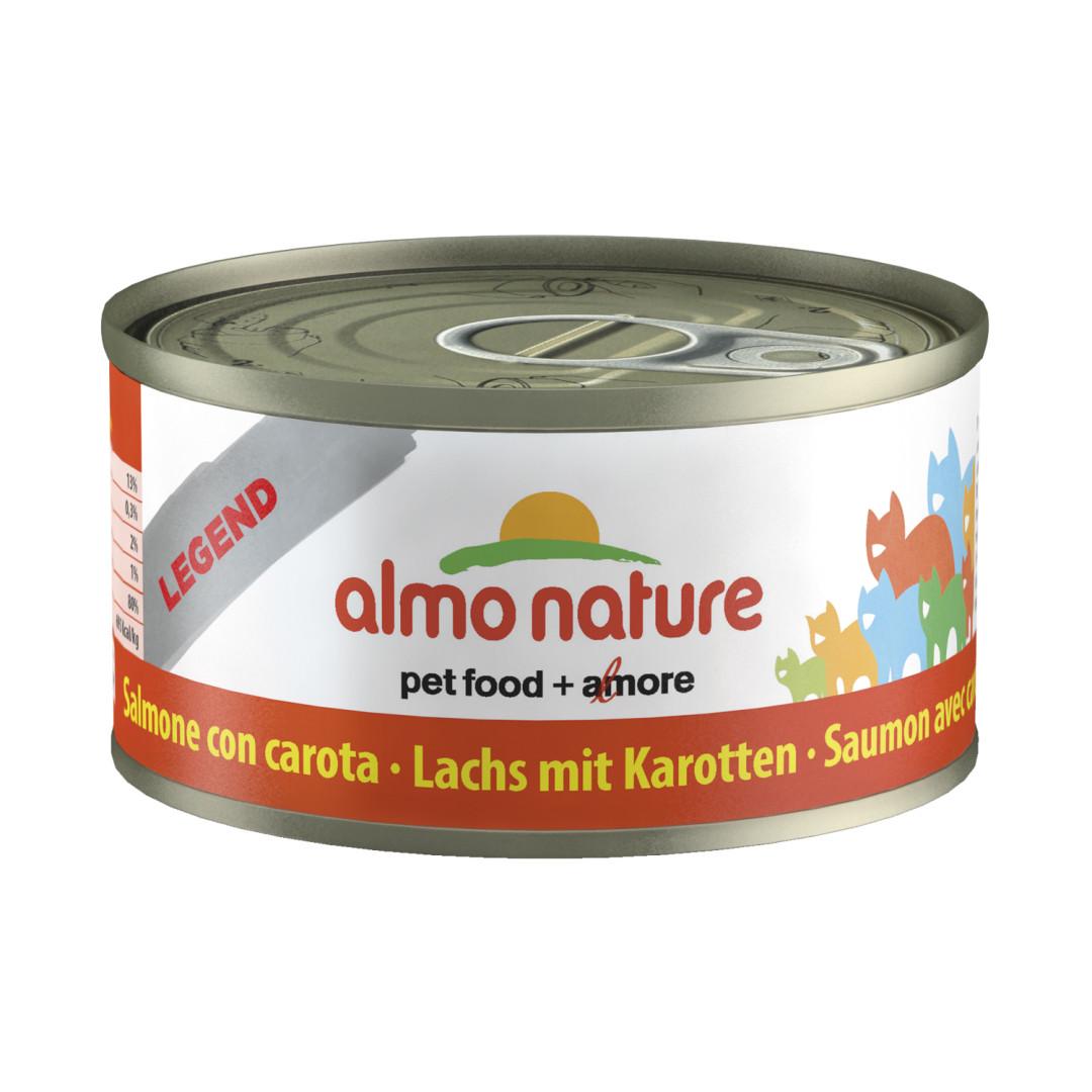 Almo Nature kattenvoer Classic zalm & wortel 70 gr