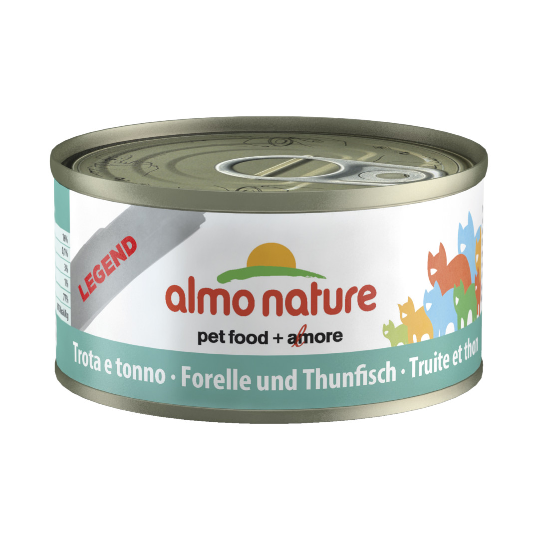 Almo Nature kattenvoer Legend forel & tonijn <br>70 gr