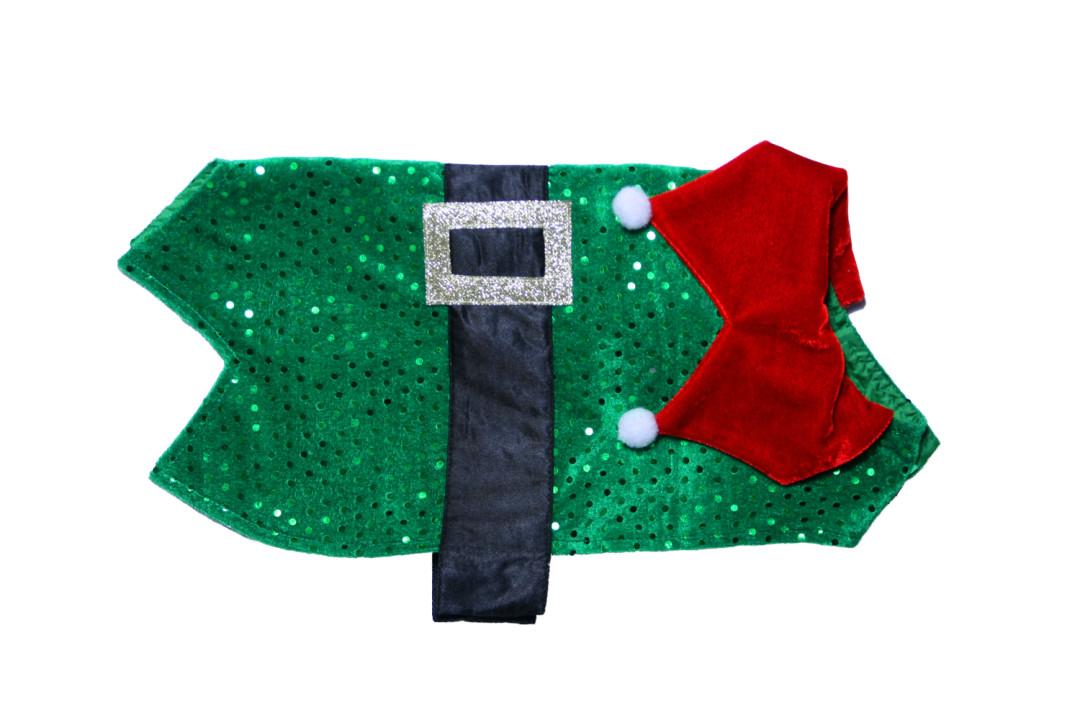 Kerstelf kostuum voor honden