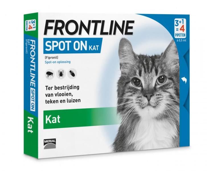 Frontline Spot On kat <br>4 pipetten
