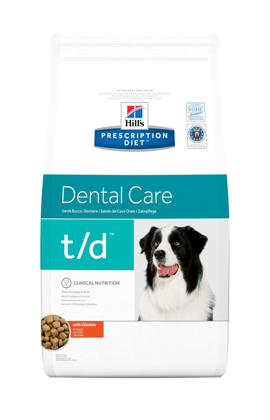 Hill's Prescription Diet hondenvoer t/d 3 kg