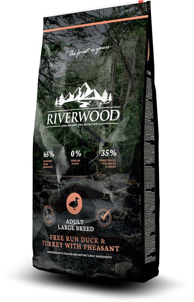 Riverwood hondenvoer Adult Large Breed Duck & Turkey 2 kg