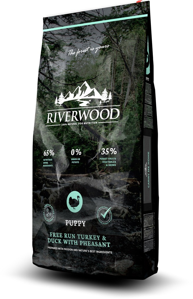 Riverwood hondenvoer Puppy Turkey & Duck 12 kg