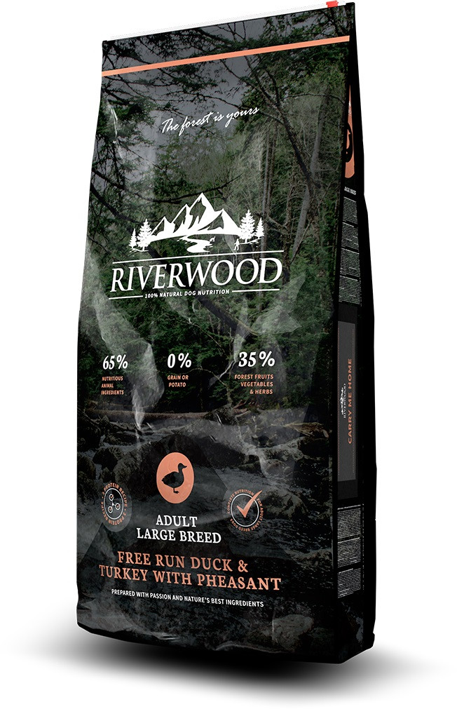 Riverwood hondenvoer Adult Large Breed Duck & Turkey 12 kg
