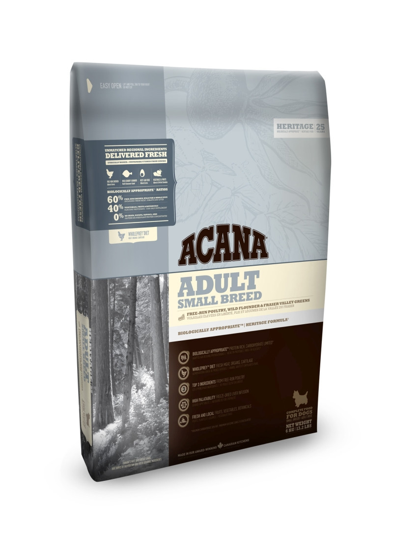 Acana Heritage hondenvoer Adult Small Breed 2 kg