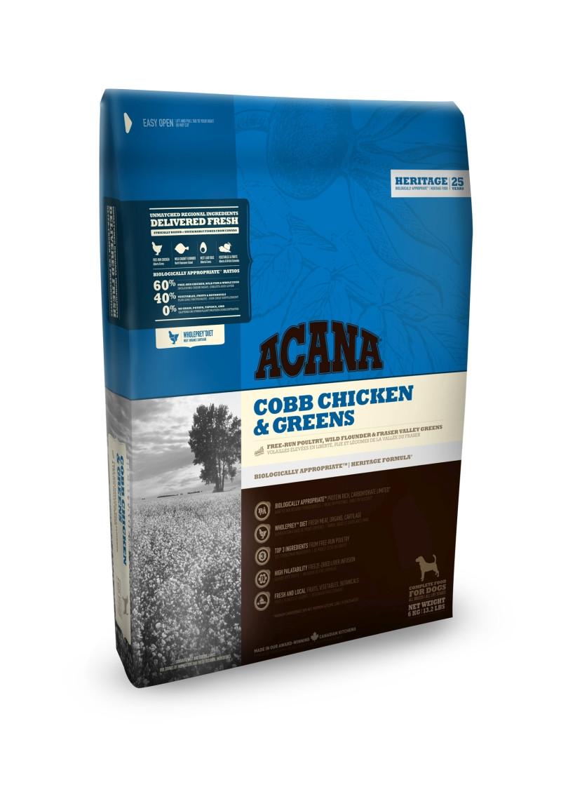 Acana Heritage hondenvoer Cobb Chicken & Greens 340 gr