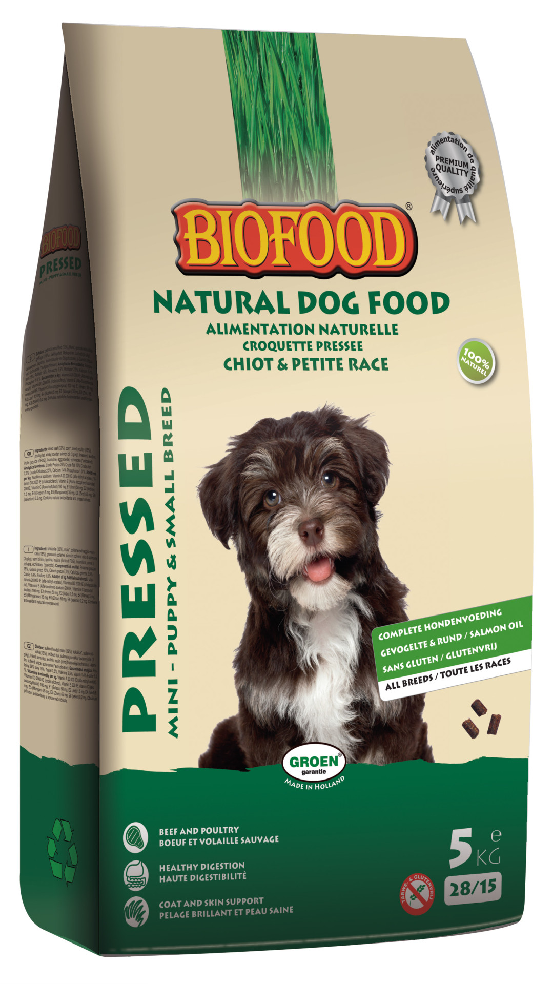 Biofood hondenvoer Geperst Puppy & Small Breed (Mini) 5 kg
