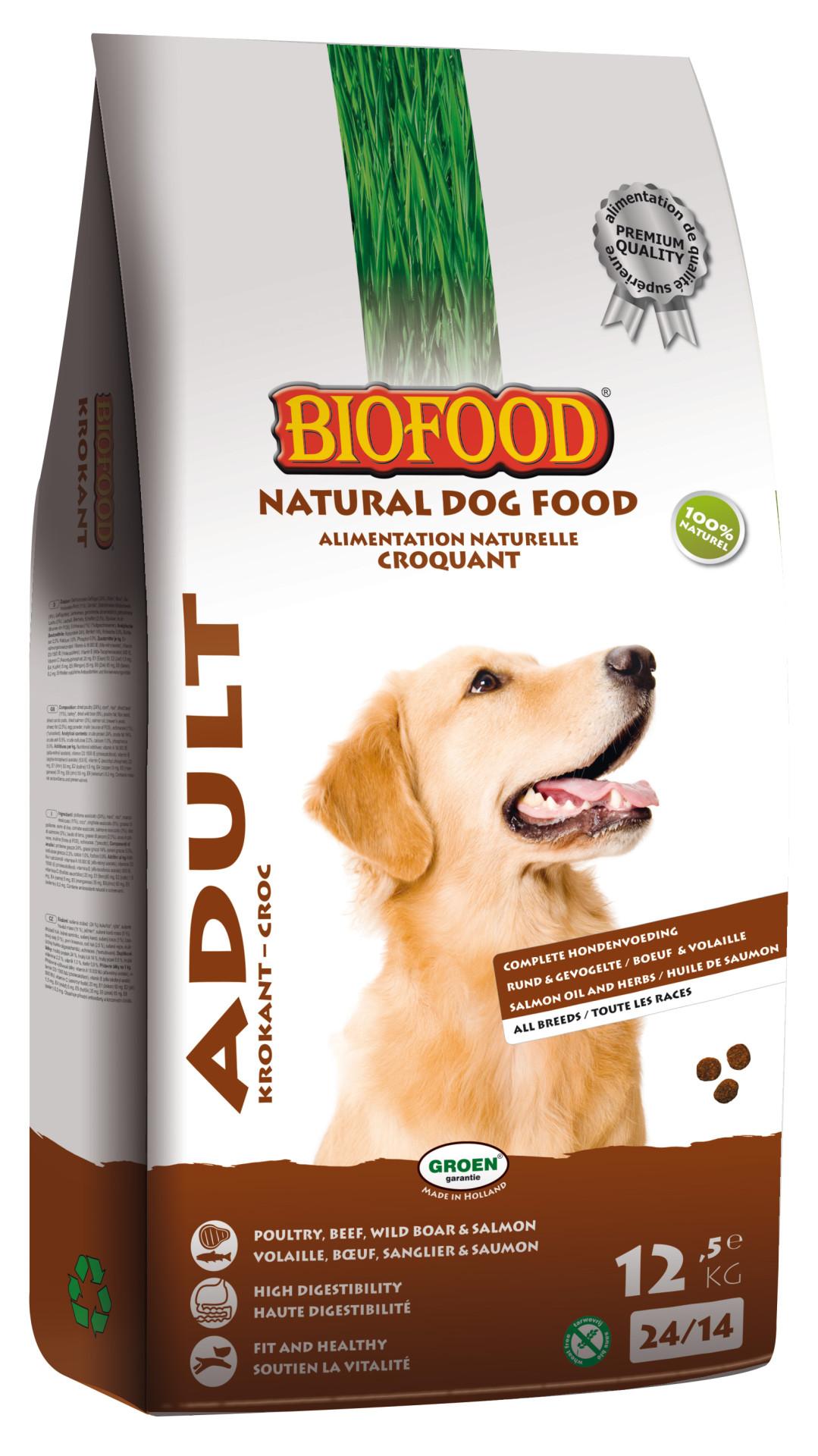 Biofood hondenvoer Krokant Adult 12,5 kg