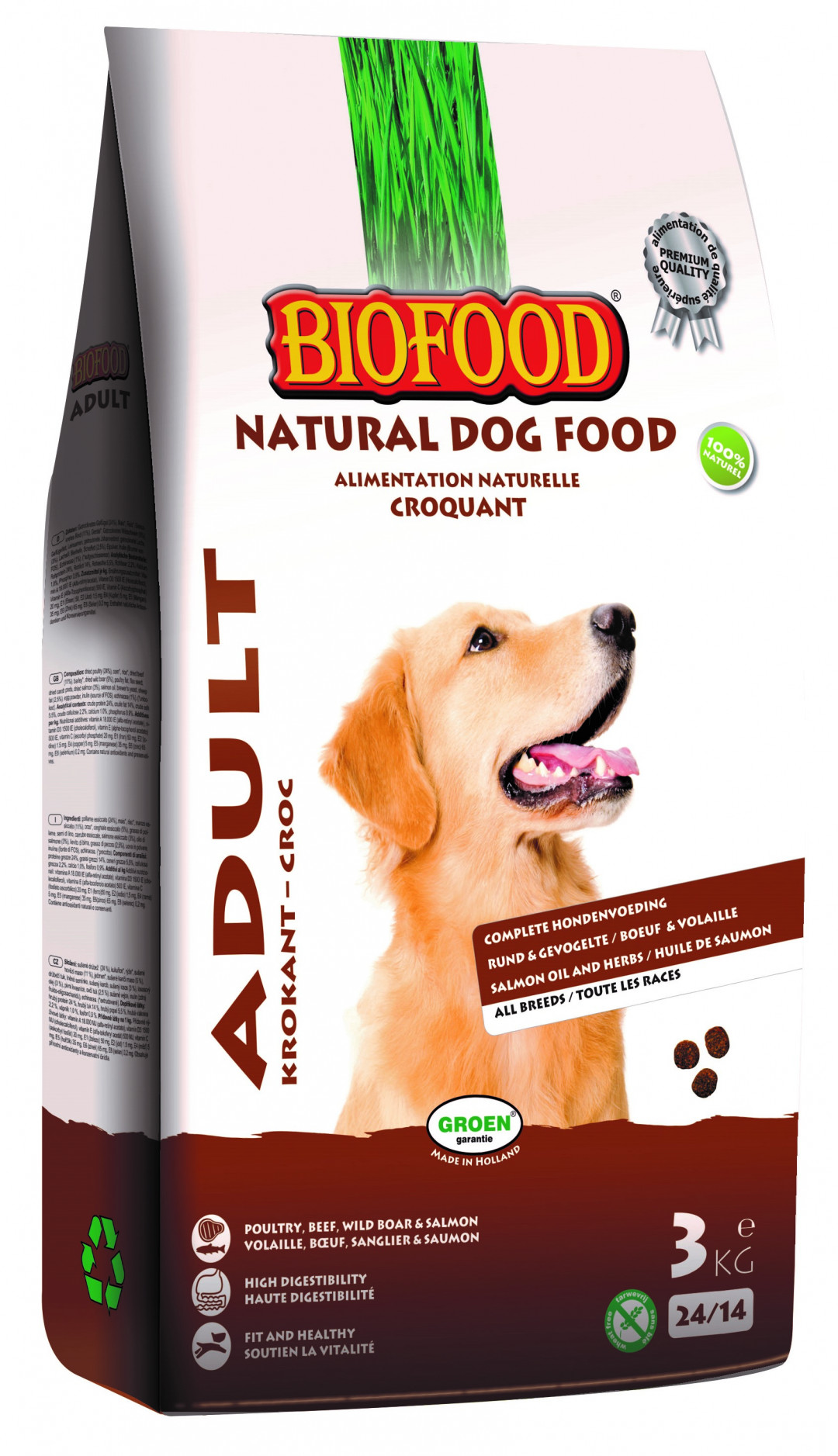 Biofood hondenvoer Krokant Adult 3 kg