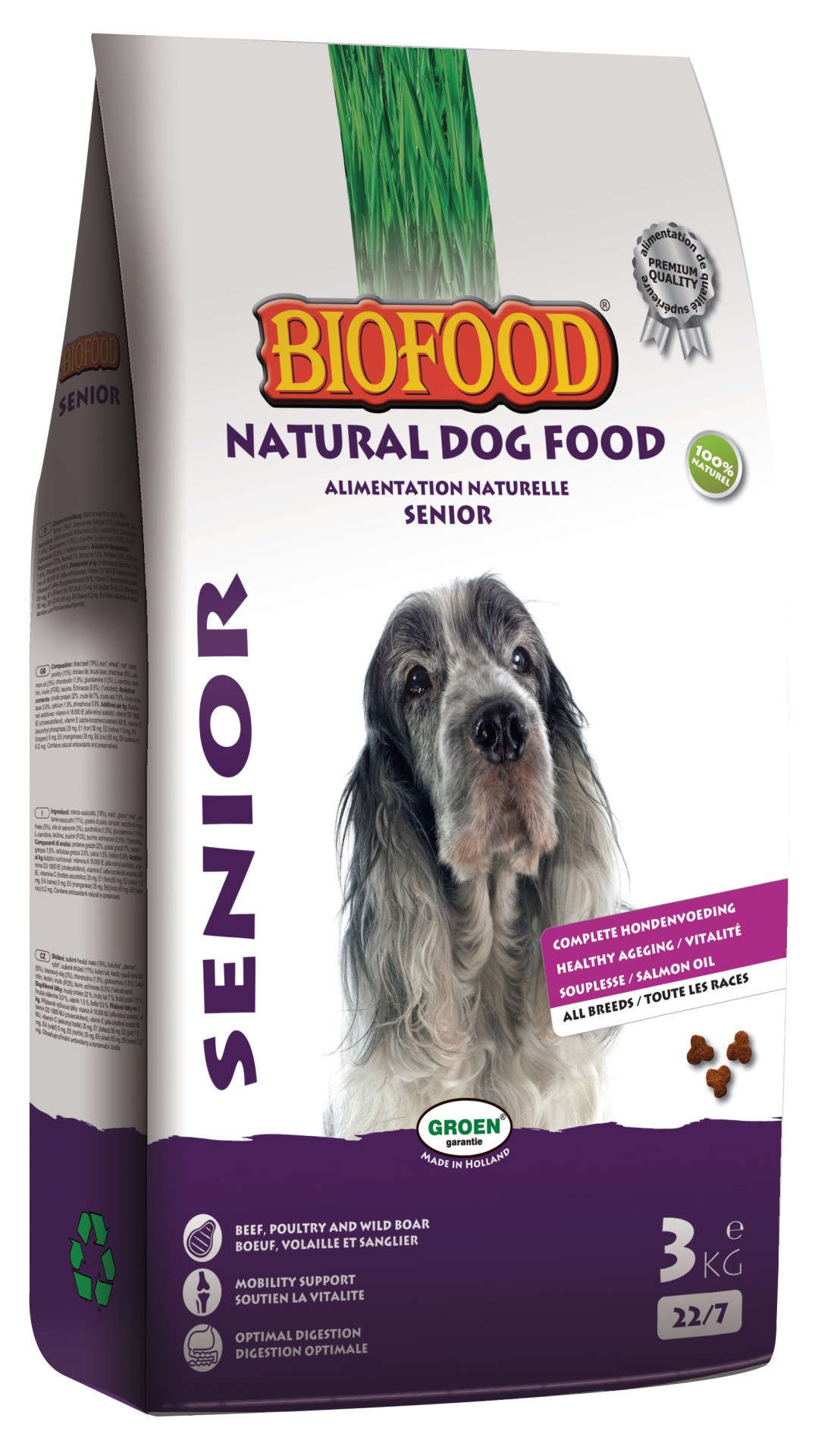 Biofood hondenvoer Senior 3 kg