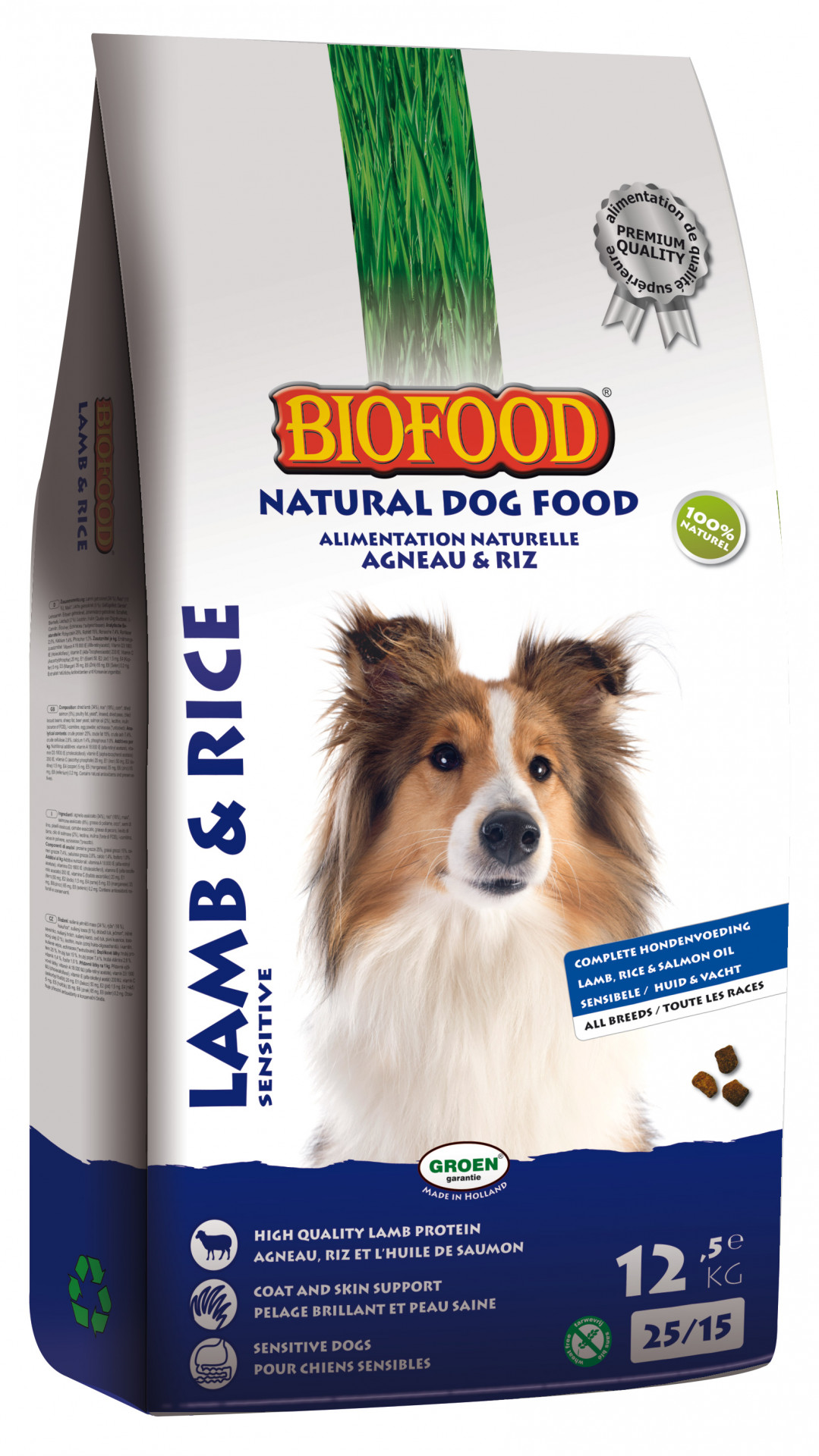 Biofood hondenvoer Lam & Rijst 12,5 kg