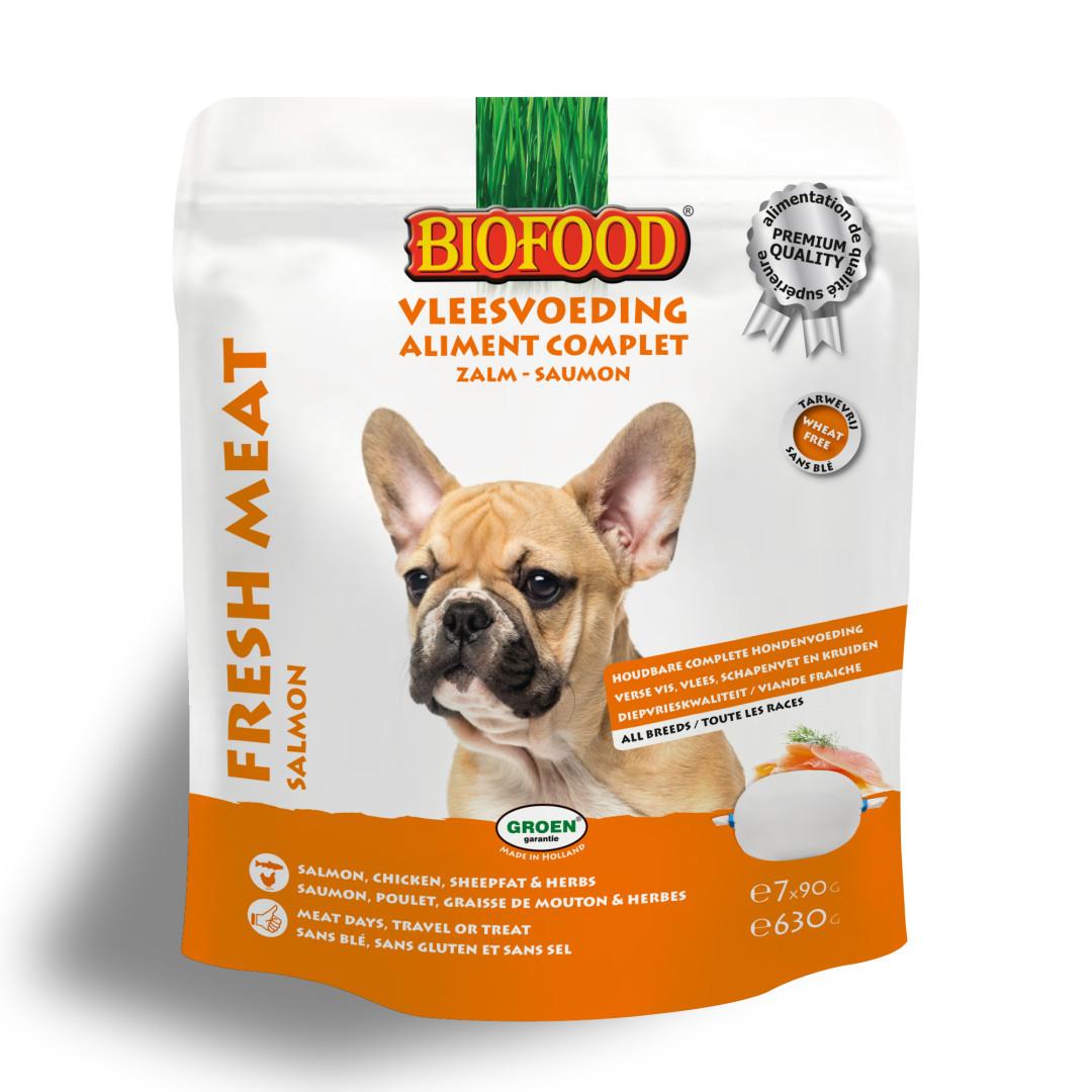 Biofood Vleesvoeding compleet Zalm 7 x 90 gr