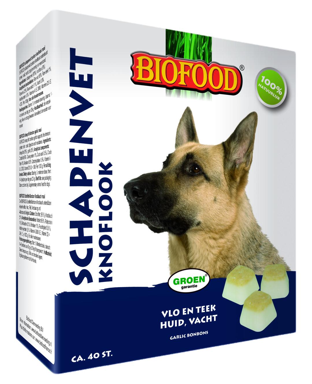 Biofood Schapenvet Knoflook 40 st