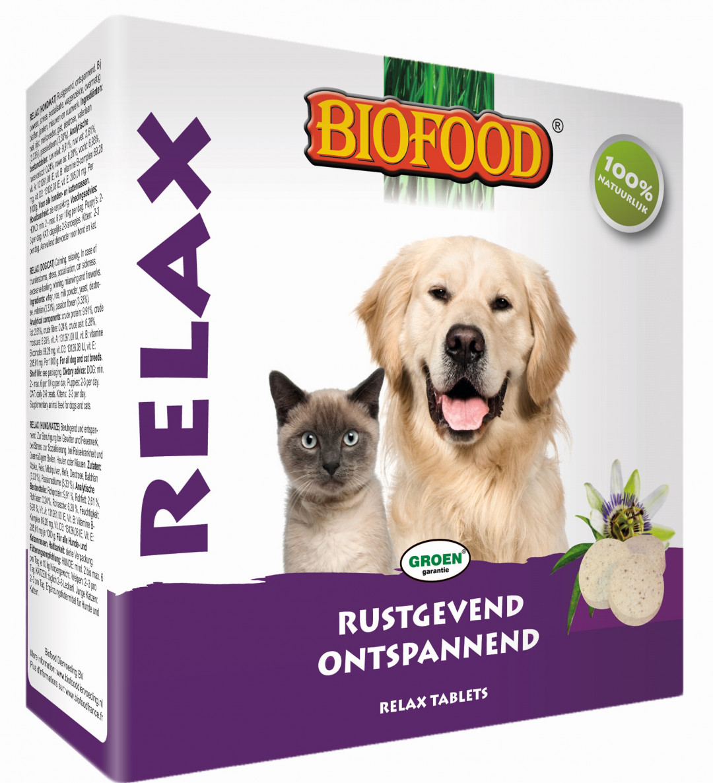 Biofood Relax tabletten hond/kat 100 st