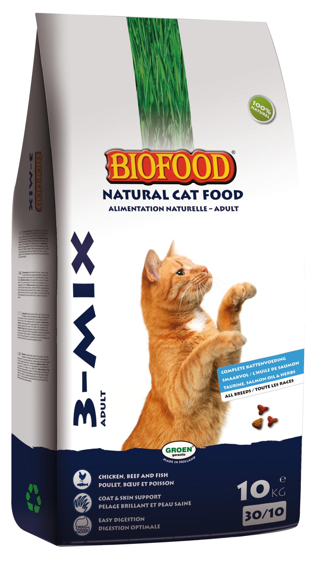 Biofood kattenvoer <br>3-mix 10 kg