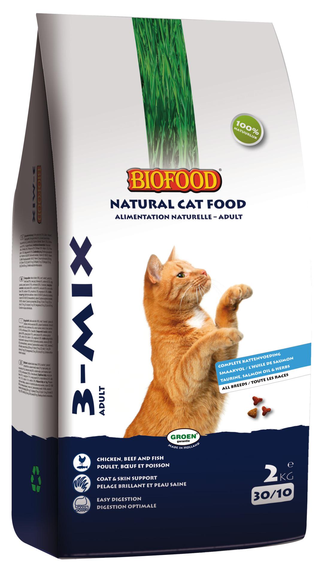 Biofood kattenvoer <br>3-mix 2 kg