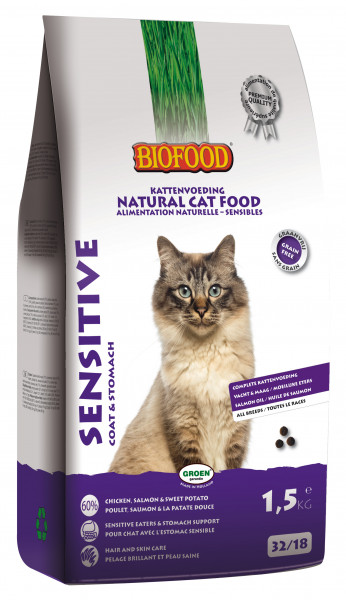 Biofood kattenvoer Sensitive - Coat & Stomach 1,5 kg