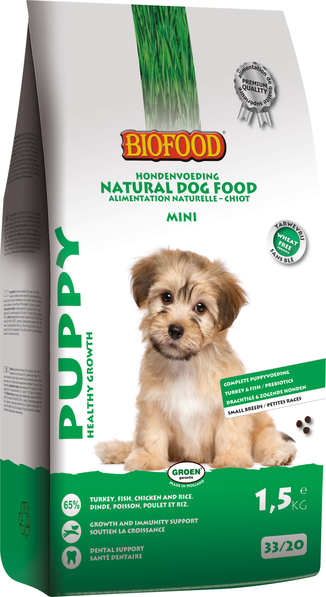 Biofood hondenvoer Puppy small breed <br>1,5 kg