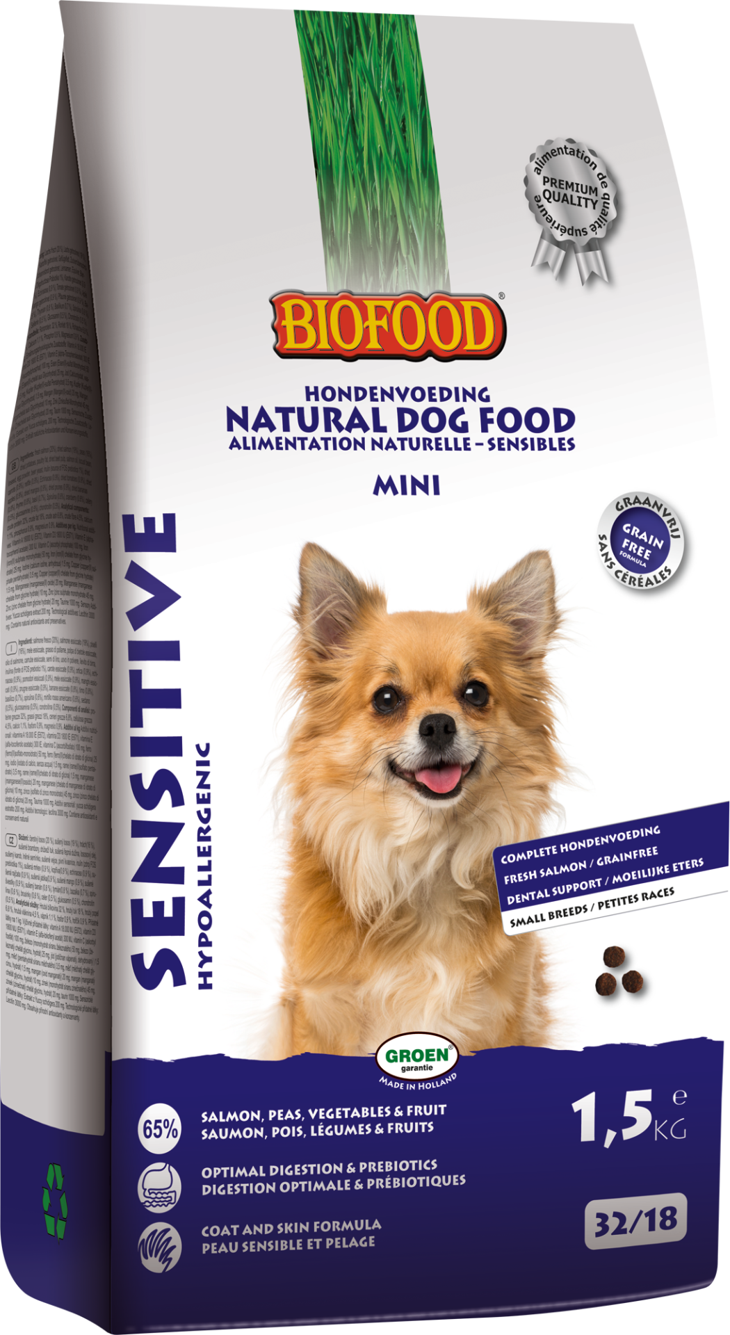 Biofood hondenvoer Sensitive small breed <br>1,5 kg