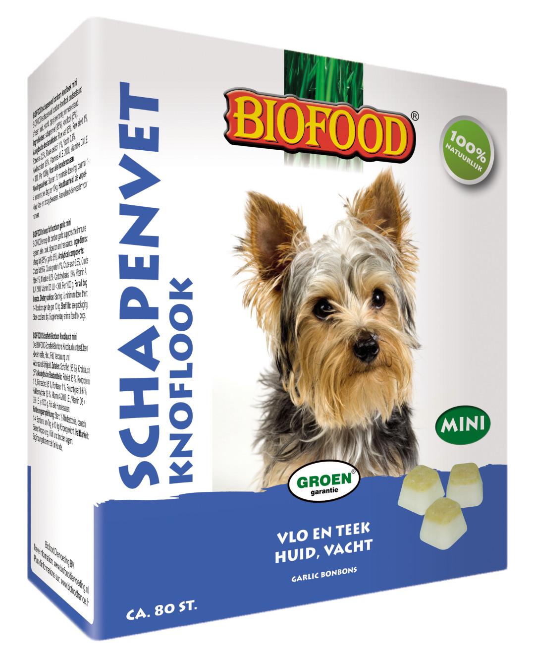 Biofood Schapenvet Knoflook 80 st (mini)