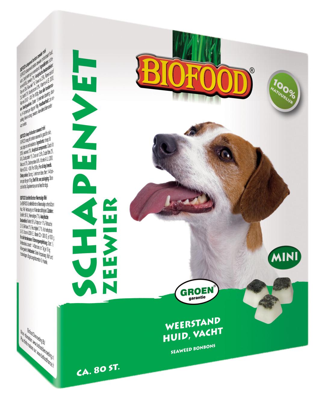 Biofood Schapenvet Zeewier 80 st (mini)