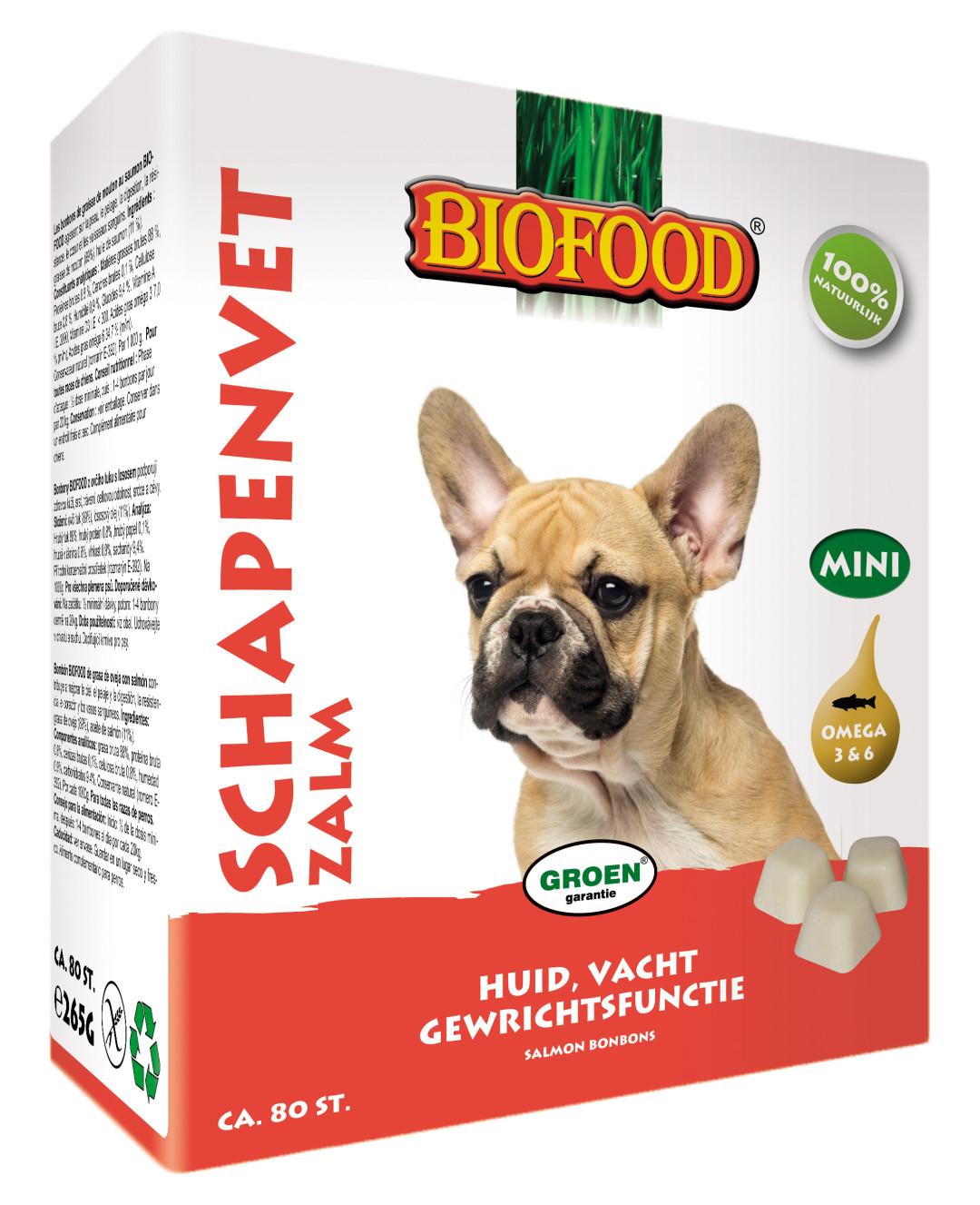 Biofood Schapenvet Zalm 80 st (mini)