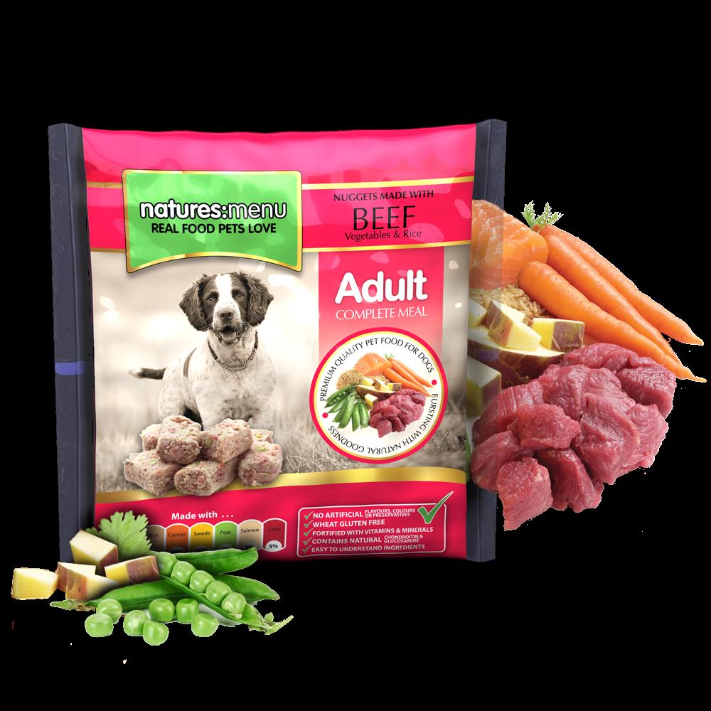 Natures Menu hondenvoer Frozen Beef 1 kg