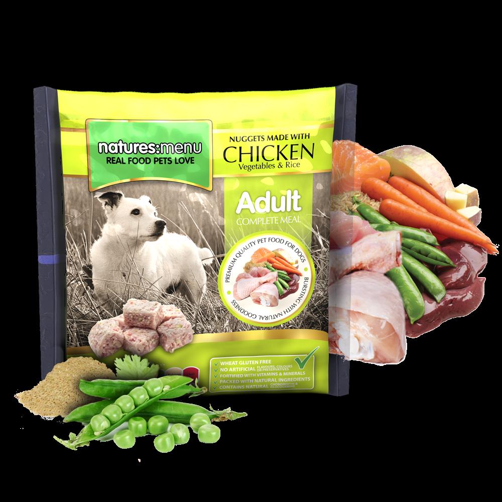 Natures Menu hondenvoer Frozen Chicken 1 kg