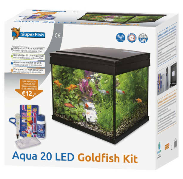 SuperFish Aqua 20 LED Goldfish kit aquarium
