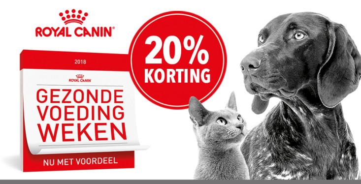Royal Canin, nu met 20% korting!