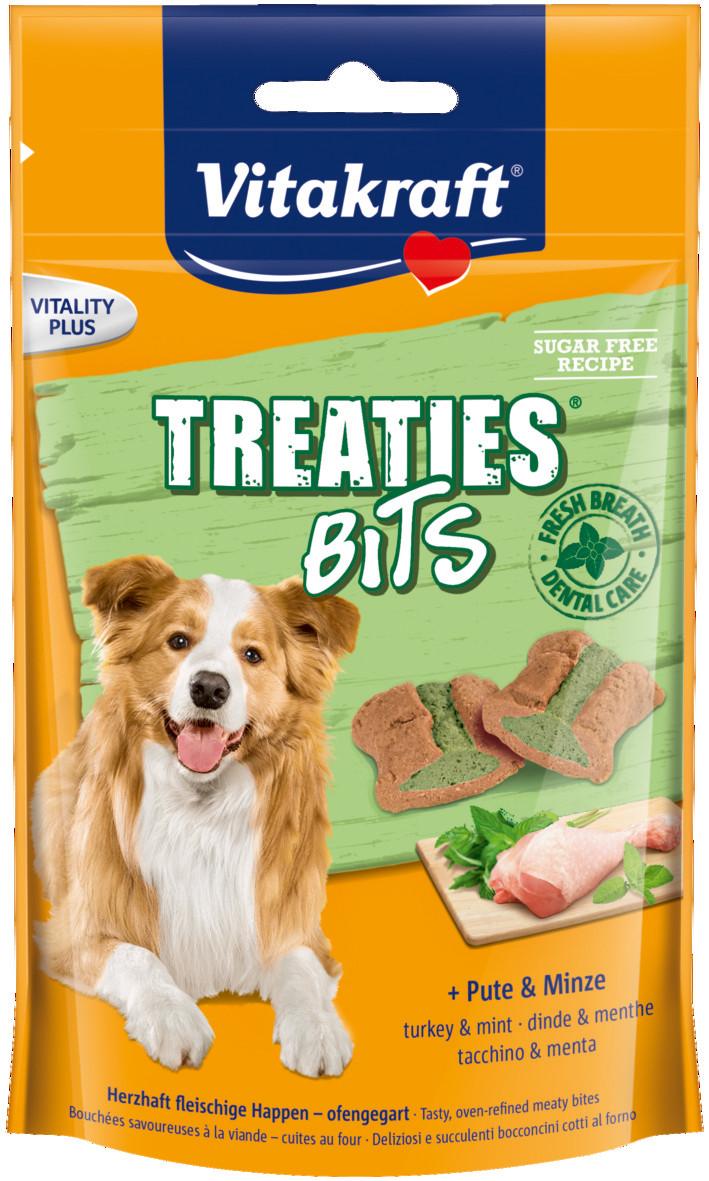 Vitakraft Treaties Bits kalkoen en munt 120 gr