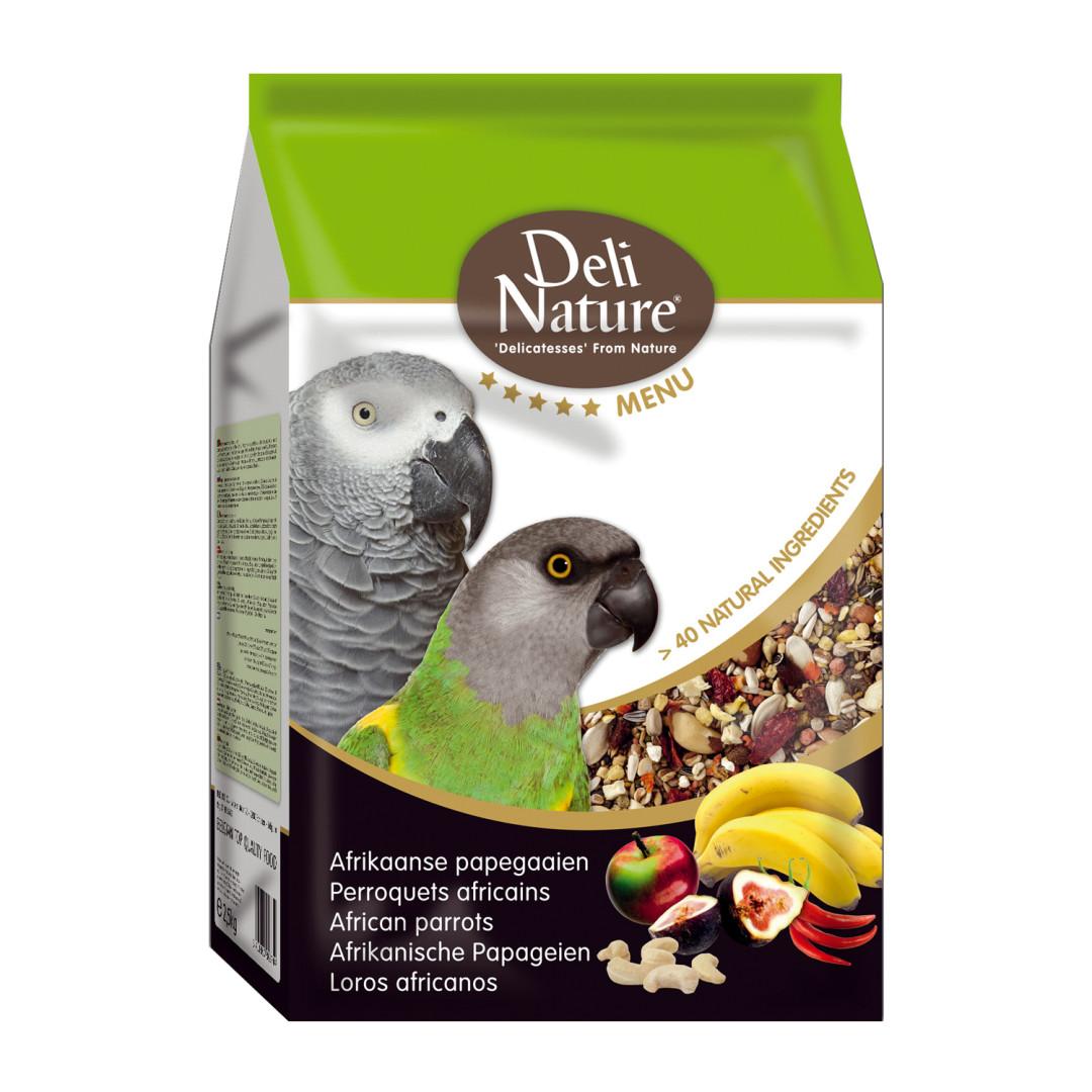 Deli Nature vijf sterren menu Afrikaanse Papegaai 2,5 kg